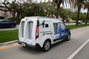 Guida autonoma per le consegne a domicilio esperimento Miami